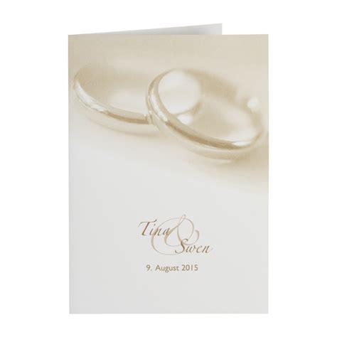 Hochzeitseinladung Din A4 by Kirchenheft F 252 R Hochzeit Mit Ringe Motiv Drucken