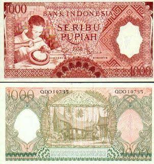 Uang Rp 1000 Tahun 1958 gambar uang 1000 rupiah dari dulu hingga sekarang sonz for you