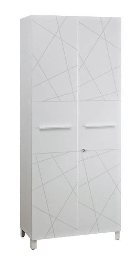 armoire largeur 80 armoire 2 portes finition blanc sunday largeur 80 cm comparer les prix de armoire 2