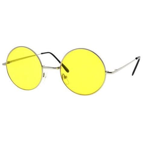 yellow sunglasses buy circle lennon inspired yellow color lens