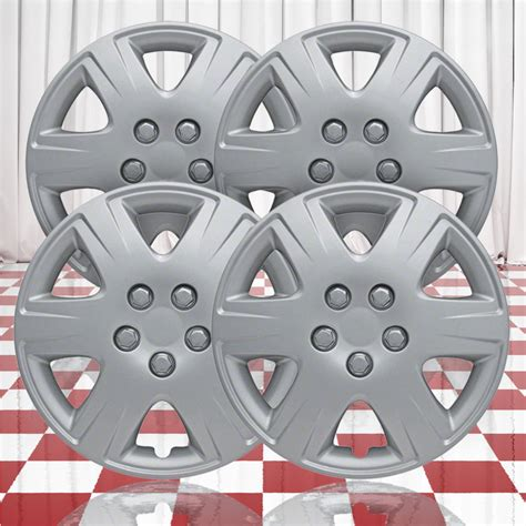 hubcaps for 2008 toyota corolla 15 quot push on silver hubcaps for 2005 2008 toyota corolla