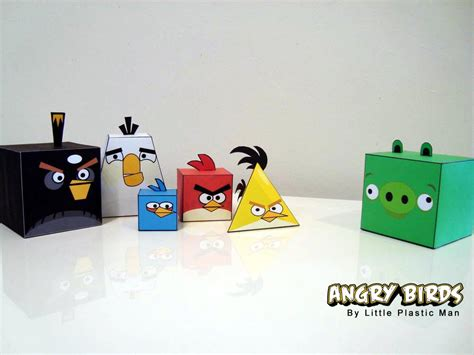 News Paper Craft - angry birds paper crafts gadgetsin