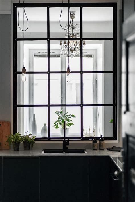 indoor window decordots grey walls and a steel framed indoor window