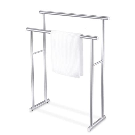 standing bath towel rack zack bathroom accessories free standing finio towel rack