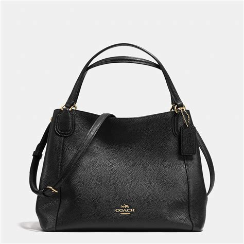 Coach Bag Black by Coach Edie 28 Leather Shoulder Bag In Black Lyst