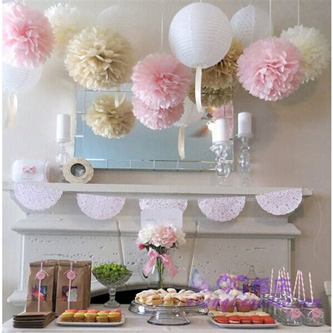 How To Make Paper Decorations For Baby Shower - 45pcs mixed 10cm 15cm 20cm wedding decoration tissue