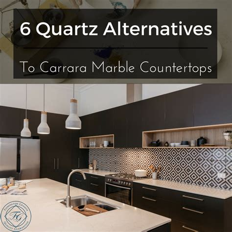 6 quartz alternatives to carrara marble countertops