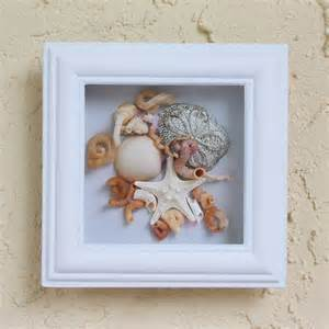 Seashell Wall Decor by Seashell Decor Starfish Framed With Glass By Seastyle