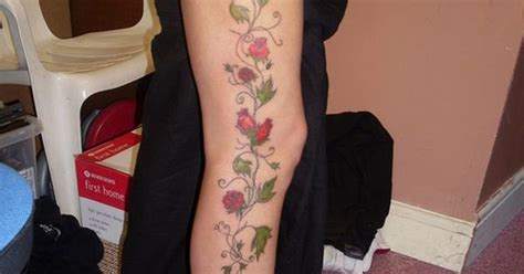 rose wrap around tattoo vine on leg would like this to wrap around leg