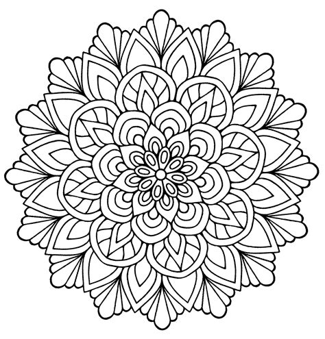 cute mandala coloring pages mandala flower with leaves m alas adult coloring pages