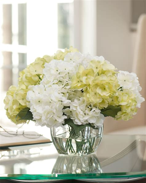 silk centerpieces easily decorate with hydrangea silk flower centerpiece at