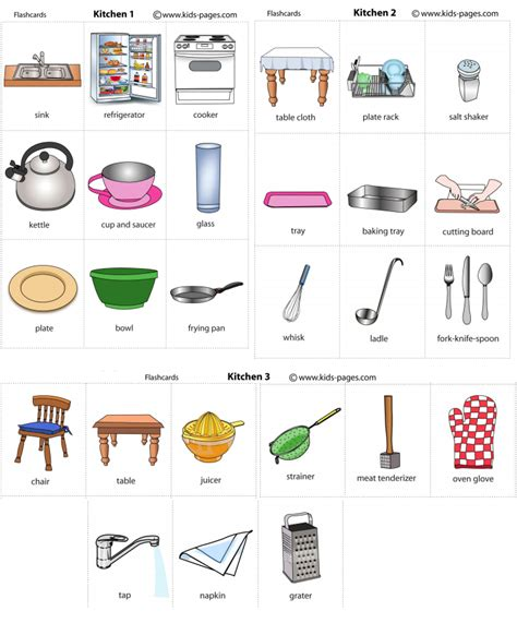 Furniture In The Kitchen this is nadin s page the kitchen vocabulary