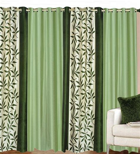 curtains and drapes bangalore buy azaani green polyester 84 x 48 inch solid eyelet door