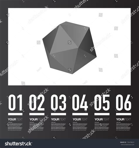 grayscale template abstract grayscale triangles pattern lowpoly 3d stock