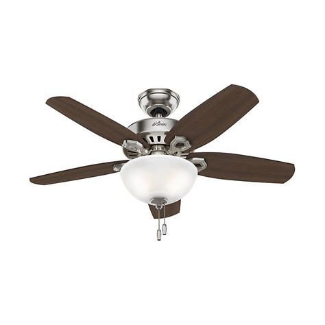 Small Ceiling Fan Light Builder Small Room 42 In Indoor Brushed Nickel Bowl Ceiling Fan With Light Kit 52219