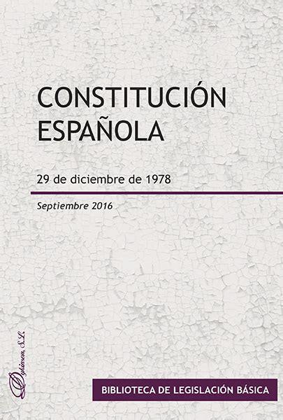 libro constitucin espaola 29 de librer 237 a dykinson legislaci 243 n jurisprudencia constitucional