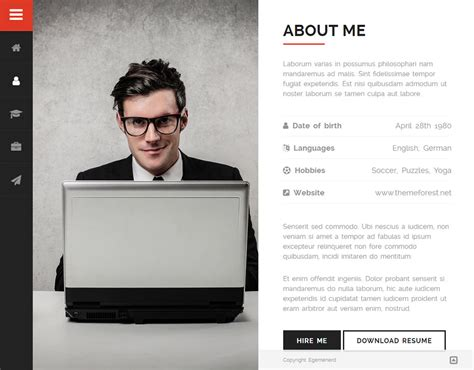 divergent personal vcard resume html template free divergent personal vcard resume theme premium resumes