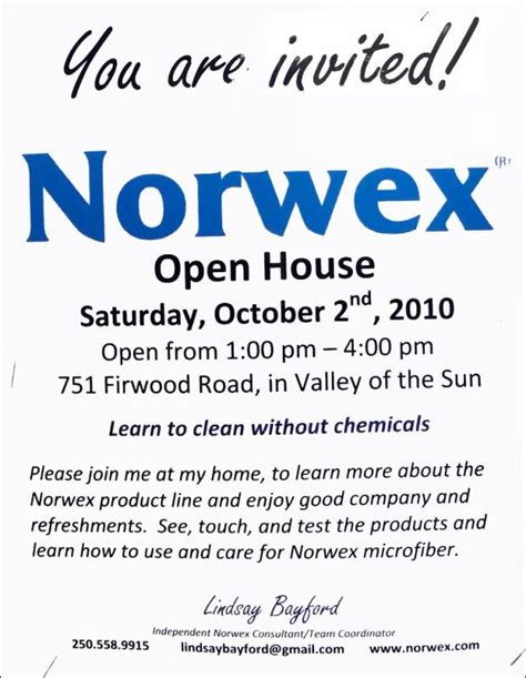 Open House Invitation Template Template Business Norwex Invitation Template To