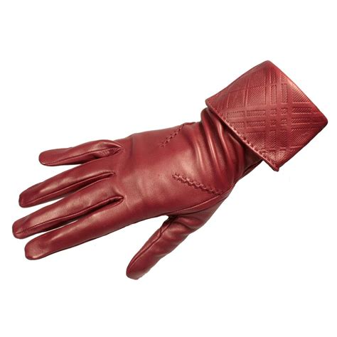 leather gloves burberry womens leather gloves emily embossed burglo002
