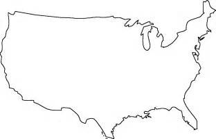 Continental Us Outline by Geography Outline Maps United States