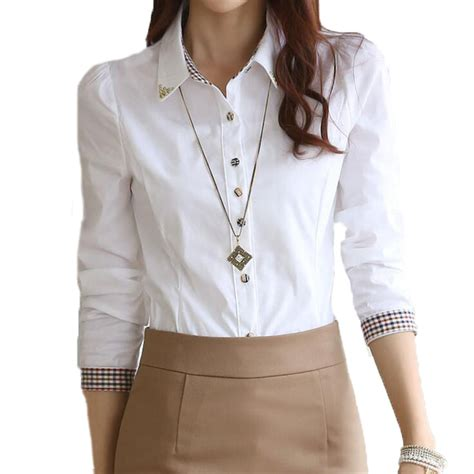 down blouses for 2013 video star travel international down blouses for women formal white shirts s 5xl long sleeve female lady