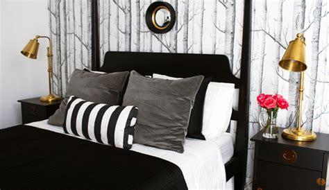 black  gray bedroom eclectic bedroom bryn