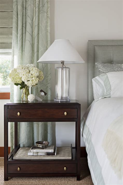 decorate  bedside table bedroom transitional