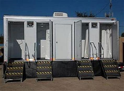 bathroom trailer rental cost shower trailers showers with restroom for rent all