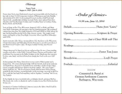 funeral biography template funeral biography template choice image free templates ideas