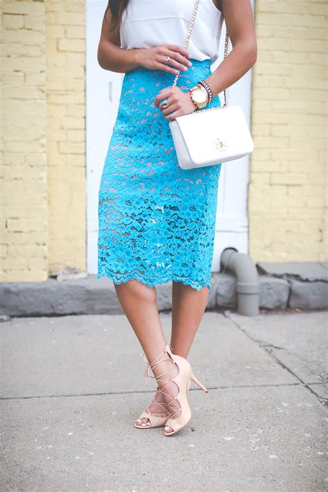 turquoise lace pencil skirt a southern drawl