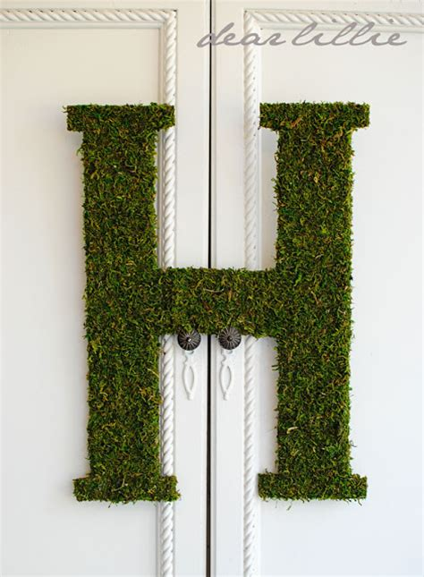 large moss covered letters dear lillie oversized moss letter tutorial and some