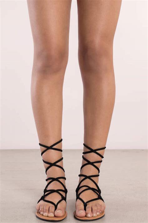 black lace sandals black lace up sandals 50 00 tobi