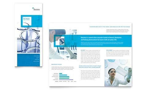 Science Chemistry Tri Fold Brochure Template Design Science Brochure Template