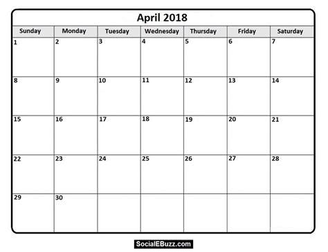 calendar templates for pages april 2018 calendar blank calendar pages free indo templates