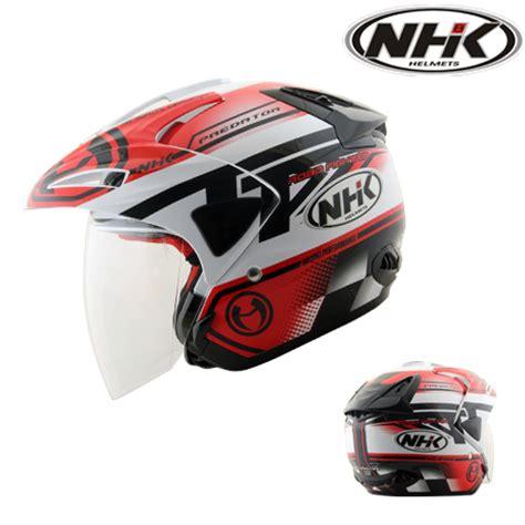 Helm Nhk Kualitas Terbaik Helm Nhk R6 Rally Black Silver Half helm nhk predator shock design pabrikhelm jual helm murah