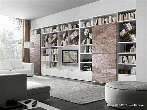 Modern Living Room Shelves by Designer Shelves By Presotto Italia Modern Living Room