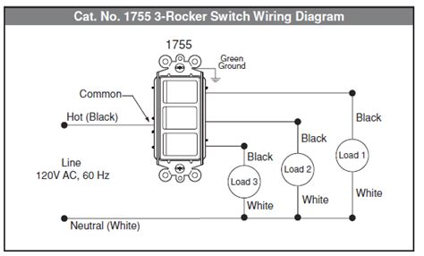 electrical how to wire multi rocker switch
