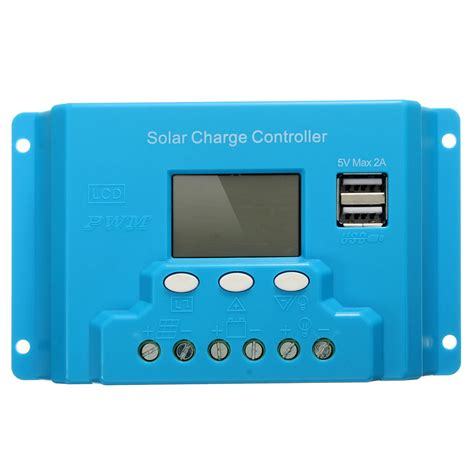 10a 12v 24v Solar Charge Controller With Lcd Display Au Diskon 10a 20a 30a lcd pwm solar panel charge controller battery