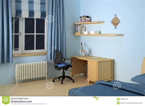 desk chairs for bedroom desk in modern bedroom stock illustration image of clock