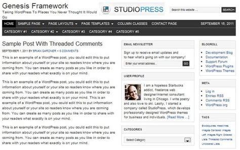 Top 10 Famous Wordpress Theme Frameworks Genesis Framework Templates