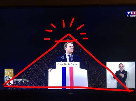 illuminati satanisti le discours de macron devant la pyramide du louvre