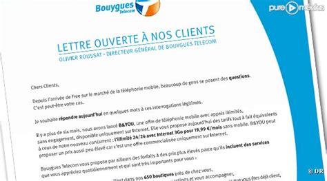 Free Mobile Lettre De R Clamation bouygues telecom adresse un courrier 224 ses clients dans la