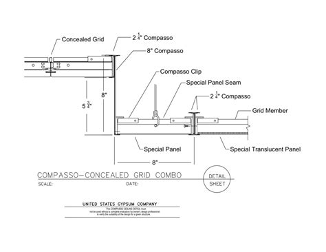 Suspended Ceiling Section Detail by Usg Design Studio Suspension System Details