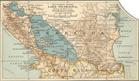 nicaragua on a map nicaragua karte routen