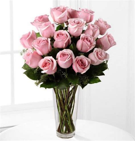 Pink Roses In A Vase by Pink Roses Arranged In Vase Kremp