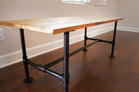 diy pub table legs diy make your own stylish metal pipe coffee table home and garden azdailysun