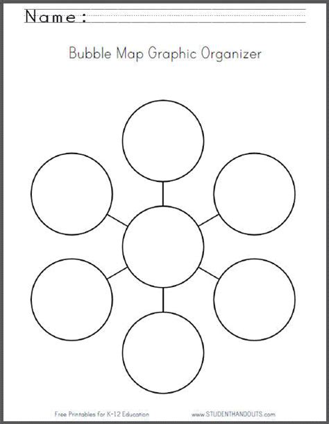 Bubble Map Graphic Organizer Worksheet Free To Print Thinking Web Template