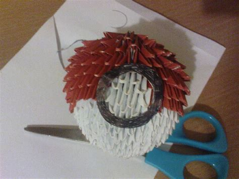 3d origami pokeball by aznlancelot on deviantart