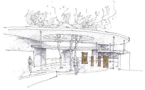 sketchbook of a zoo gallery of zurich zoo foyer renovation extension l3p