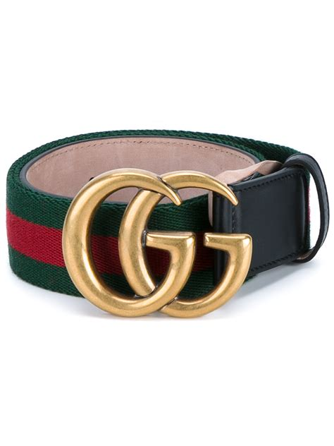 Gucci Tote Belt gucci web logo canvas and leather belt in black lyst